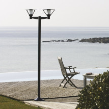 Large French Single or Double Mount Post Light Bermude