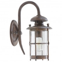 Hand-Forged Wrought Iron Wall Lantern WL 3491
