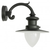 Factory-style Wall Light for Outdoor Use with Pointed Glass