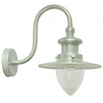Factory-style Wall Light for Outdoor with Pointed Cylinder Glass