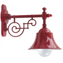 Historical outdoor lamp with shade in industrial design