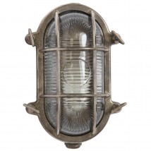 Brass Sconce with Holophane Glass Roben