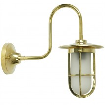 Irish Outdoor Wall Light with Curved Bracket Habo
