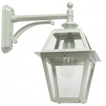 Traditional Italian Outdoor Wall Light with Simple Arm