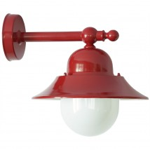 Small Shade Wall Lamp for Outdoor Use with Makrolon Glass