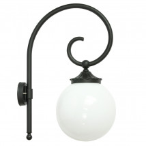 Globe Wall Light with Bishop's Arm