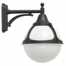 Outdoor Globe Wall Lamp on Short Arm
