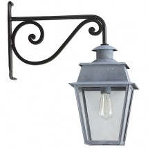 French Brass or Zinc Wall Lantern Bordeaux