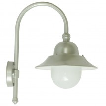 Wall Lamp for Outdoors with Industrial-style Shade