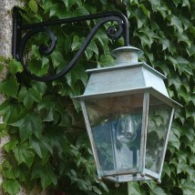 Large French Brass or Zinc Lantern Bordeaux GM