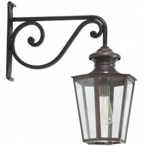 Historical Wall Lantern Vaucresson with Wrought Iron Bracket