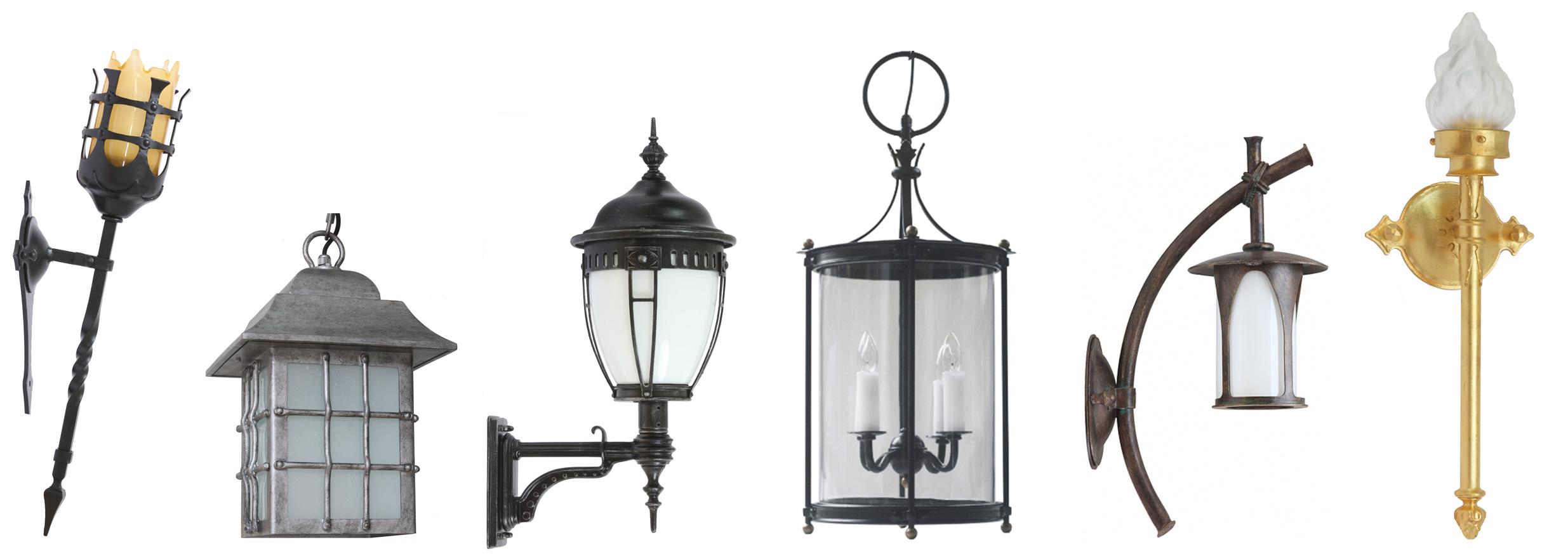 Lampen für außen, rustikal und antik